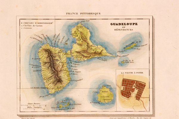 Antique map of Guadelupe